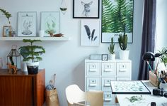 Margo uses indoor plants to add color to her minimalist home