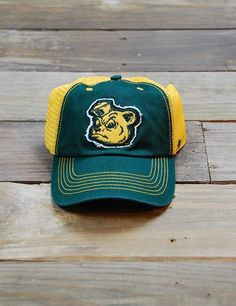Green and gold Sailor Bear cap