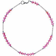 Handcrafted Pink Glass Bugle Ankle Bracelet MADE WITH SWAROVSKI ELEMENTS Body Candy. $13.99