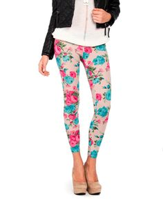 Bright Floral Leggings (who wore these in high school?  THIS GIRL!  THIS GIRL wore flower leggings!)  :)