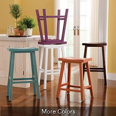 I do love the low profile of these stools.  Like the blue and black.