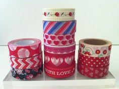 RED WASHI TAPE: CHOOSE FROM 12 DIFFERENT PATTERNS- BRAND NEW