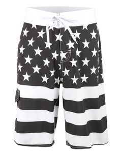 Mens American Design Boardshort Swim Trunk with Pocket
