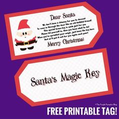 Image result for santa's magic key free printable poem Free Printable Tags, Free Printables, Easy Christmas Crafts, Christmas Ideas, Christmas Eve, Christmas Cards, Christmas Ornaments, Old Key Crafts, Diy Crafts