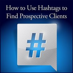 How to Use Hashtags to Find Prospective Clients  ||  Great blog post at Kim Garst | Marketing Strategies that WORK : By now, I know you're familiar with hashtags. You likely already use them to attract new followers to your social media posts, and to find[..] https://kimgarst.com/how-to-use-hashtags-to-find-prospective-clients?utm_campaign=crowdfire&utm_content=crowdfire&utm_medium=social&utm_source=pinterest