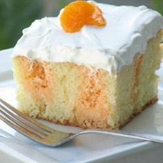 "Creamy Orange Cake | ""Great. Half the cake was eaten by my husband and son the first night."""