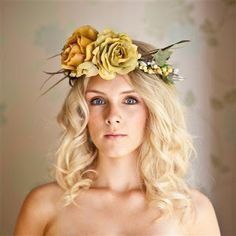 the serendipitist: Floral Wreath Halos..The Next Big Bridal Hair Trend