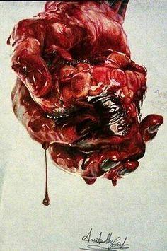 #heart #drawing #artsjobs #artistoftheday #drawingseptember #reds #italian