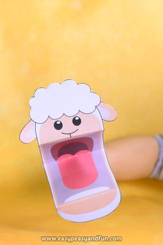 Printable sheep puppet craft for kids. Printable sheep puppet craft for kids. Bible Crafts For Kids, Animal Crafts For Kids, Paper Crafts For Kids, Craft Activities For Kids, Preschool Crafts, Diy Crafts, Puppets For Kids, Sheep Crafts, Puppet Crafts