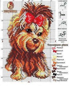 Cross Stitch Love, Cross Stitch Animals, Cross Stitch Charts, Cross Stitching, Cross Stitch Embroidery, Hand Embroidery, Dog Crafts, Modern Cross Stitch Patterns, Dog Pattern
