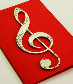 Vintage Sheet Music Card by Bombus
