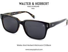 Walter and Herbert Hitchcock Black Sunglasses, England, English, British, United Kingdom