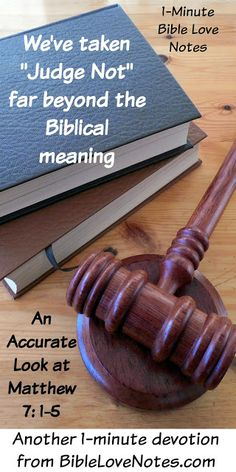 This 1-minute devotion talks about the Bible's view of judgment, and it's not what is popularly believed.