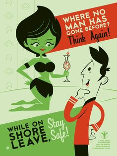 Star Trek themed parody of vintage VD posters