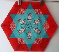 paper pieced hexagon love