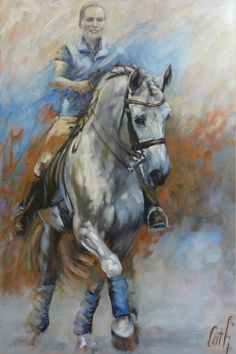 """HORSES The andalusian stallion """"Beloki"""" commissioned work http://www.cathdriessen.nl/ oilpainting 80x120 cm"""