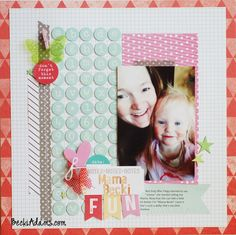 Layout using Elle's Studio Shine collection for the blog hop with Hip Kit Club by Becki Adams