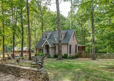This is a cute style of architecture for a cabin in the mountains - 818 sq. ft.  Storybook Cottage vacation rental Leipers Fork TN.