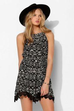 Ecote Gabrie Crochet-Trim Tank Dress #urbanoutfitters