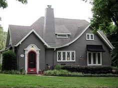 Charms House, Grey Stucco, Google Search, White Trim, Gray Stucco, .