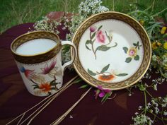 Royal Worcester Demitasse Cups  Saucer by CallahanCollectibles