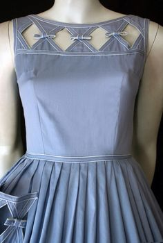 99a28312aeb48 Historical Clothing, Sewing Clothes, Cotton Dresses, Blue And White,  Embellishments,