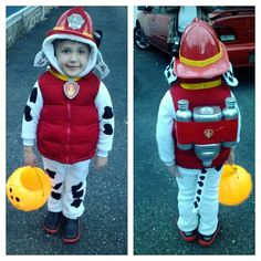 Marshall paw patrol costume! This is what Emmie wants for Halloween.  Skye last year, Marshall this year