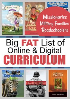 Big fat list of online & digital curriculum perfect for missionaries, military families, and roadschoolers. Preschool Curriculum, Homeschool, Classroom Activities, Reading Horizons, Susa, Online Lessons, Christian School, Military Families, Home Schooling