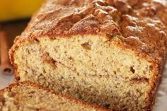 Cinnamon Sugar Topped Banana Bread    http://recipetavern.com/recipe/cinnamon-sugar-topped-banana-bread/