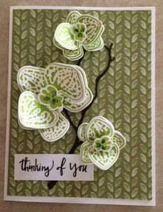 Stampin' Up! Climbing Orchids