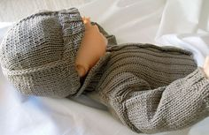 Baby Newsboy Cap, Sweater and Vest - P029 by OGE Knitwear Designs - AU$5.00 AUD