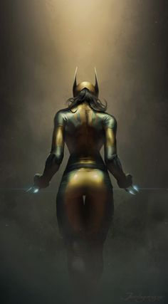 The art of jeehyung source...  The art of jeehyung  source :http://ift.tt/1ThG1YS  tags : pintura digital painting marvel rule 63 wolverine art arte fanart pinterest