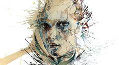 Fragmentos, rostos e estilhaços de vidro, emoções derramadas no papel, assim são os desenhos do ilustrador Carne Griffiths. O seu processo de trabalho passa principalmente pelo extravasar de sentimentos e frustrações, como uma terapia transformada em arte. Rostos de uma beleza invulgar, construídos por camadas de tinta e chá, construídos por camadas de respostas emocionais ao quotidiano.