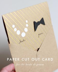 How to a Make a card for the bridal couple DIY Wedding Card