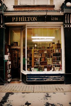 bookoasis:  P. J. Hilton Books, antiquarian bookshop in London. (Photo by  ellaapgale)