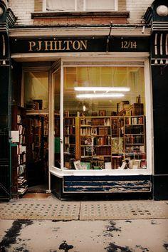 bookoasis:  P. J. Hilton Books, antiquarian bookshop in London. (Photo by  ellaapgale)