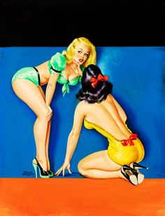 """The Secret"" by Peter Driben 1949 #pinup"
