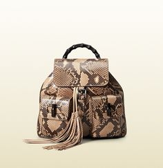 Gucci - bamboo leather backpack 370833A7M0N2754