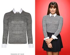 """Rachel Berry """" The latest collection from Alice + Olivia was just full to bursting with preppy collared sweaters perfect for Rachel, so we were delighted to see her rocking this cute knit in Glee Season 6 promo"""