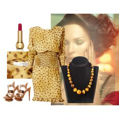 """Brown, Luxury, Dark Brown GemStone Necklace: http://etsy.me/1iECCDA"" by dearmissj on Polyvore"