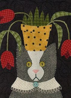 Cat pattern by Bonnie Sullivan | All Through The Night | Needlework & Quilting Patterns