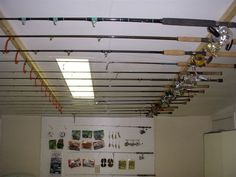 Fishing pole storage  mom! - very similar to the way pop-pop stored them. :-)