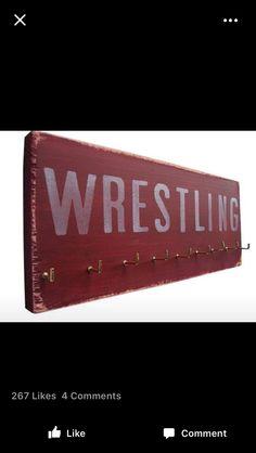 Wrestling medal board