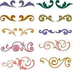 There are 10 Flourish SVG that you can use them in your scrapbooking or in card making. And more coming soon. Cricut Ideas, Inkscape Tutorials, Cricut Tutorials, Stencils, Silhouette Cameo Projects, Cricut Creations, Svg Files For Cricut, Cricut Fonts, Svg Cuts
