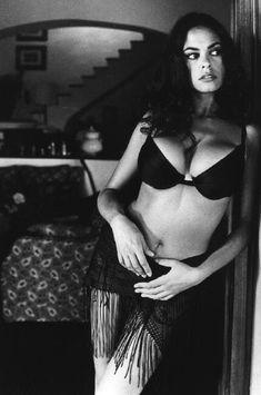 Ferdinando Scianna ITALY. Naples. 1995. Italian actress Maria Grazia CUCINOTTA.