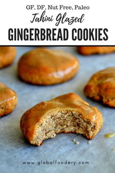 These delicious cookies are really easy to make and ready in a flash! | Tahini & Honey Glazed Gingerbread Cookies (Paleo, Refined Sugar-Free, Gluten-Free, Dairy-Free) | Global Foodery