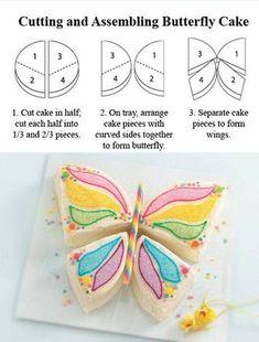 Kelebek Şeklinde Pasta Yapımı