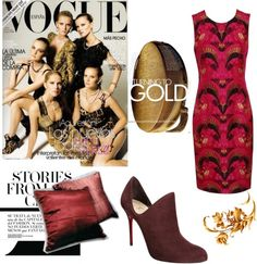 Silk Gold and Luxury, created by welovelinen - Polyvore