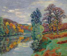 """The Echo Rock, Crozant,""Armand Guillaumin, 1913"