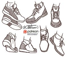 Official Post from kibbitzer: We need more shoes references in this world!Now I'll draw some faces!---------------------------------------------------------- This is a $1 reward! After all the pledges get processed by patreon you'll get:-Full version with 7 pairs of shoes-all the monthly standard reference sheetsRules: -don't sh